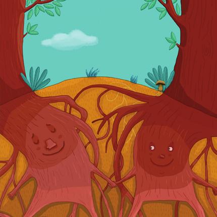 galerie ou vont les racines des arbres