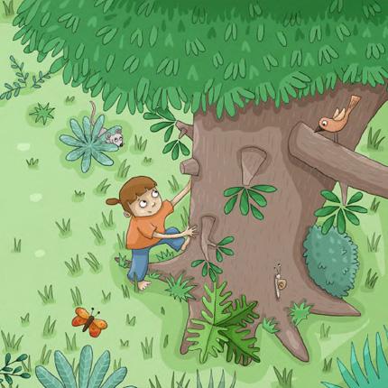 galerie que nous cache le tronc des arbres